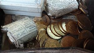 tresor de famille pieces de monnaies