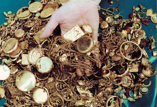 Le besoin et le goût de cacher de l'or